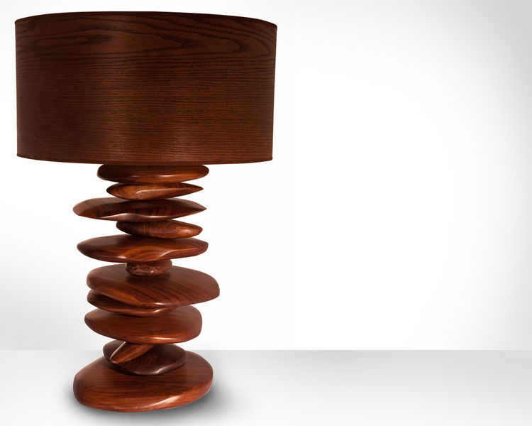 Rock Pile Lamp by EndGrain