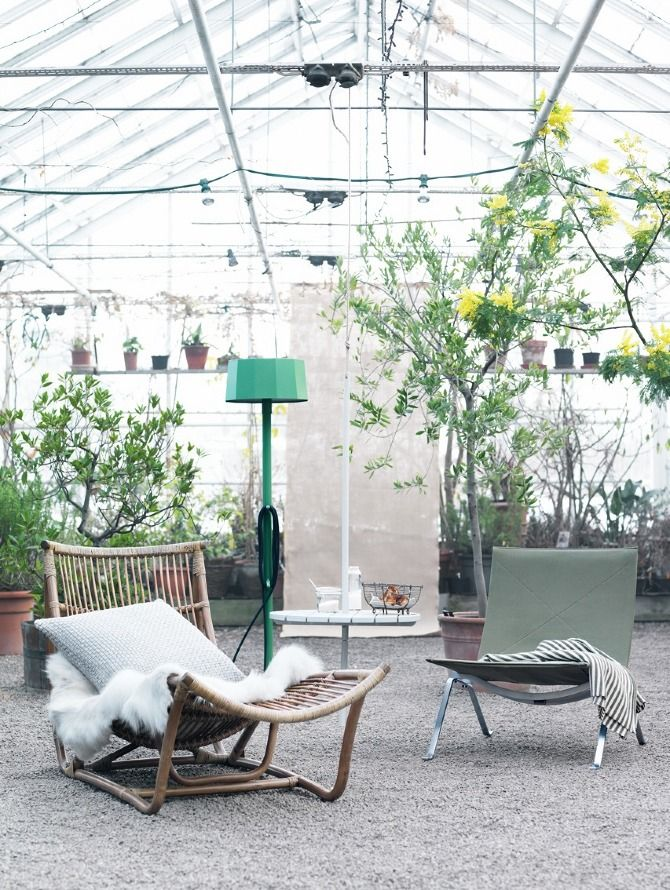 Greenhouse lounge area styling by Tina Hellberg