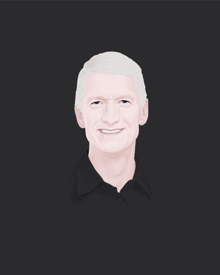 Apple CEO Tim Cook illustration by Jules Julien