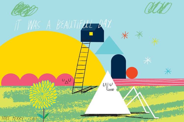 Beautiful Day print by Mike Perry