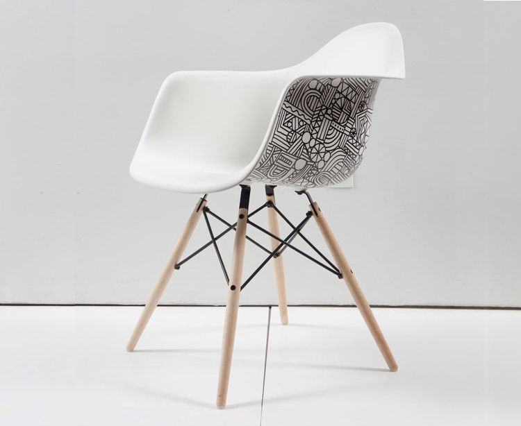 Custom Eames chair by Mike Perry