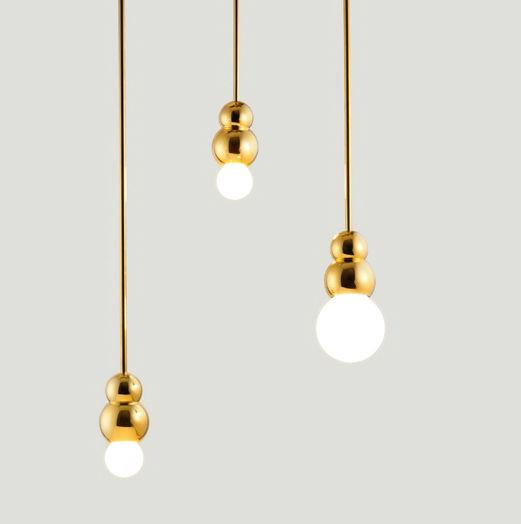 Ball Lights Gold by Michael Anastassiades