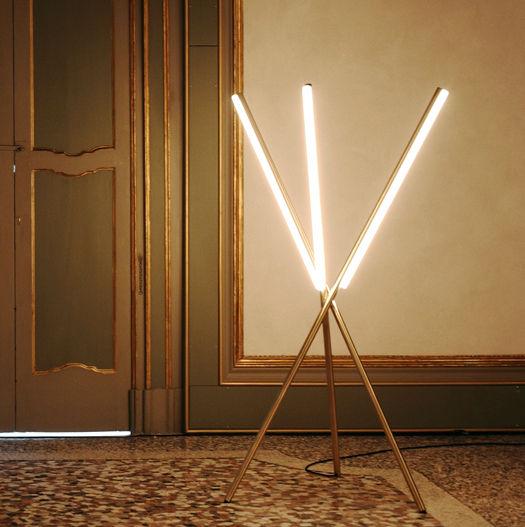 Lit Lines Pendant Light 2 by Michael Anastiassades