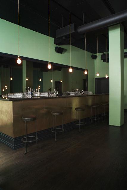 Copenhagen bar with Michael Anastassiades lighting fixtures