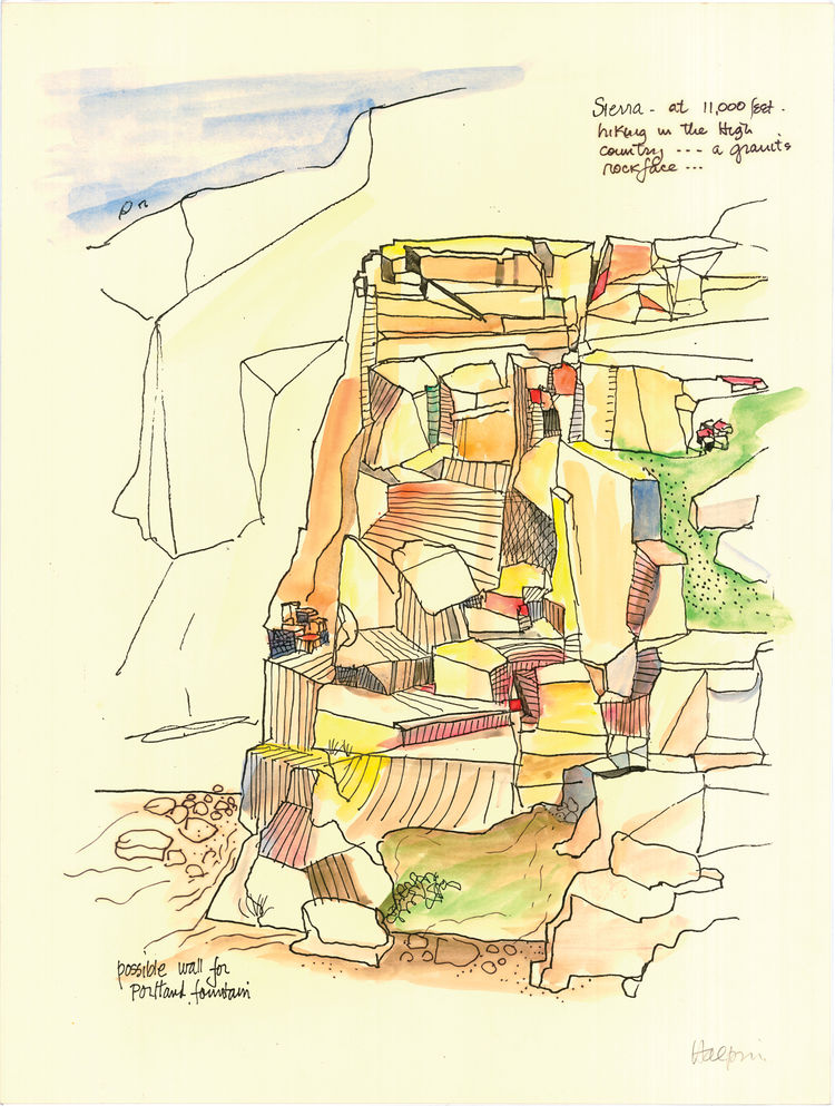 Lawrence Halprin sketch.