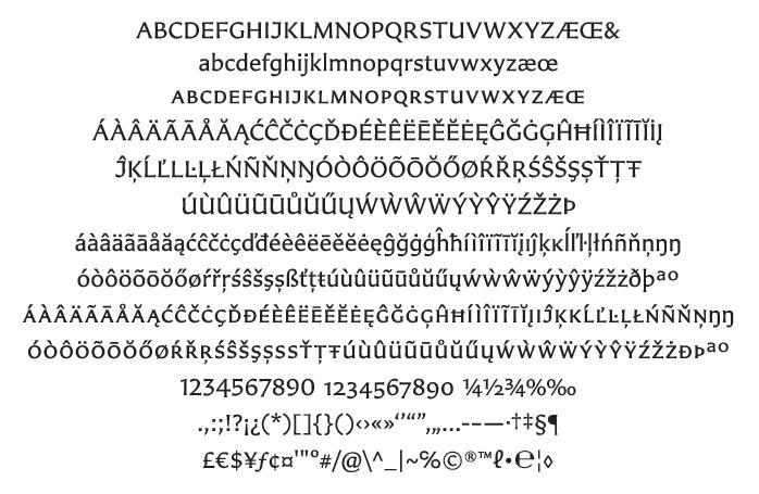 Carter Sans Serif Typeface by Matthew Carter