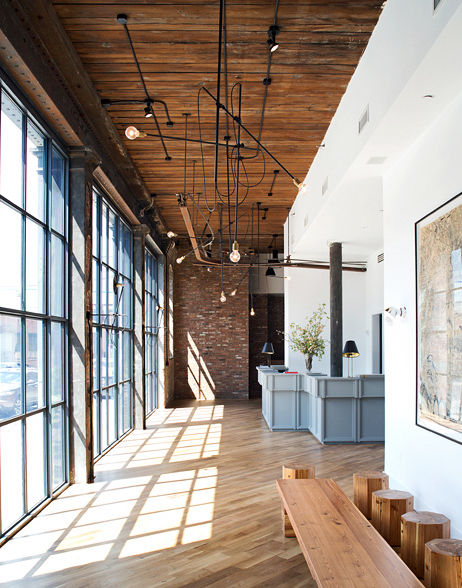 The lobby of the Wythe Hotel in Brooklyn