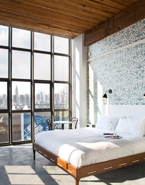 A beautiful bedroom in the Wythe hotel