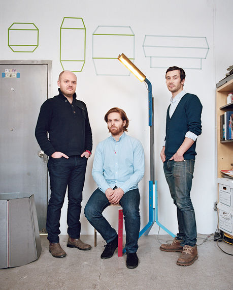Alexander Williams, Charles Brill and Theo Richardson of Rich Brilliant Willing in their Manhattan studio