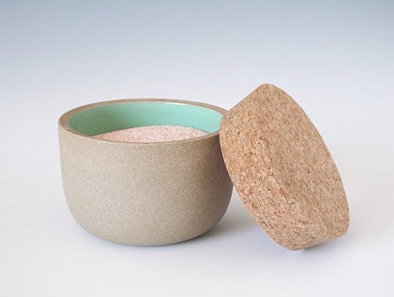Ceramic jar with cork top
