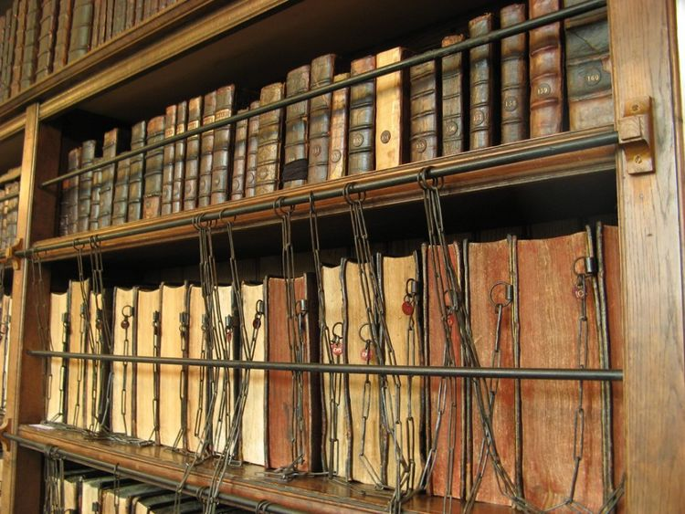 Royal Grammar School Chained Library in Guildford, England