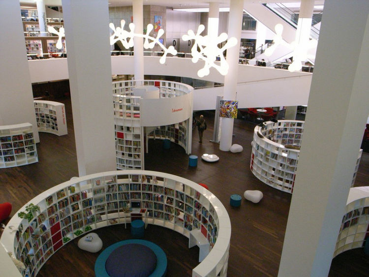 Centrale Bibliotheek in Amsterdam, Netherlands