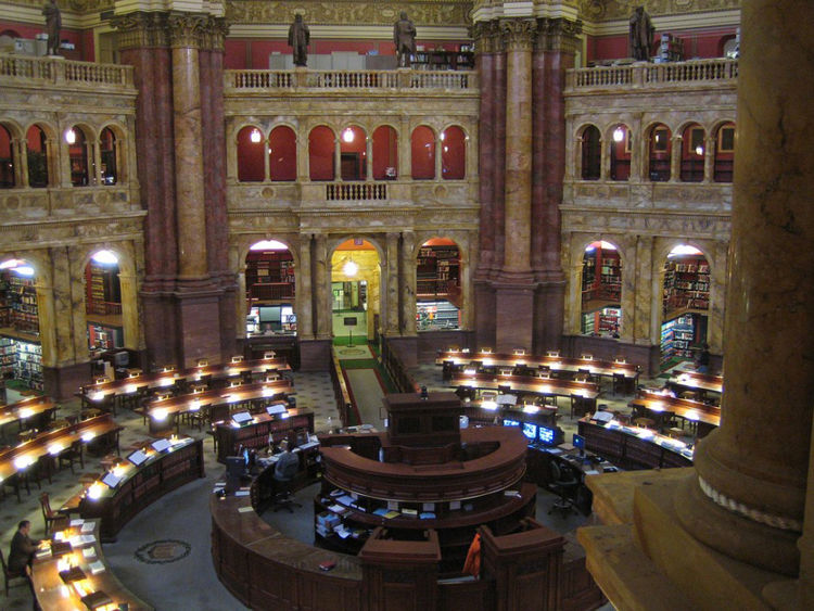 Library of Congress in Washington, DC, USA