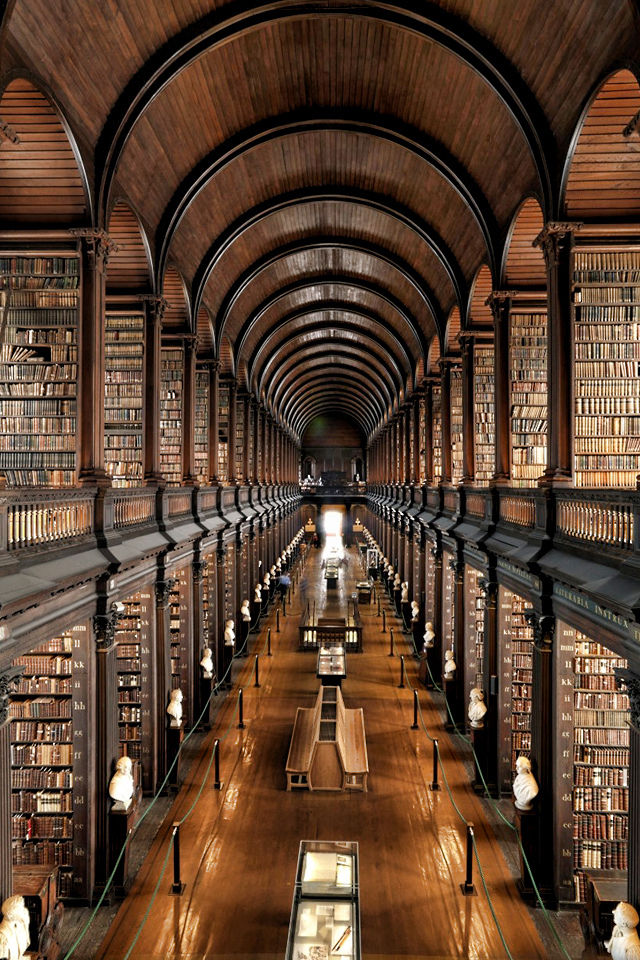 Trinity College Long Room in Dublin, Ireland