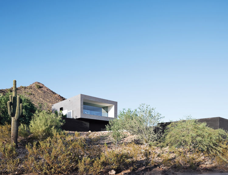 Geometric desert home in Phoenix.