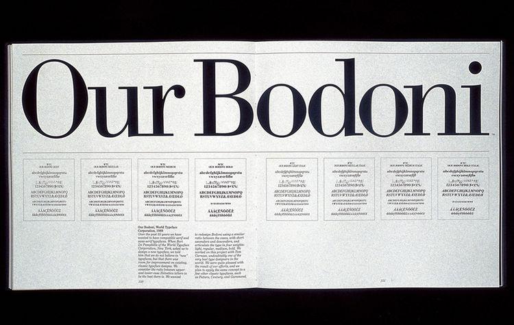 Standardized version of Bodoni typeface