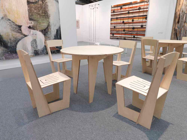 Home Made table and chairs by Bade Stageberg Cox