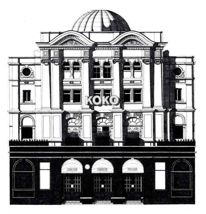 KOKO in Camden Town illustration by Thibaud Herem