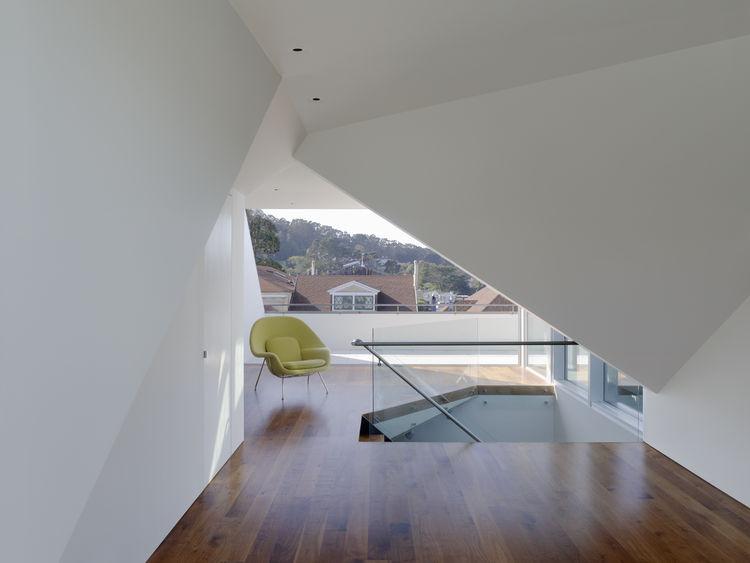 Geometric interior of Edwardian home in San Francisco