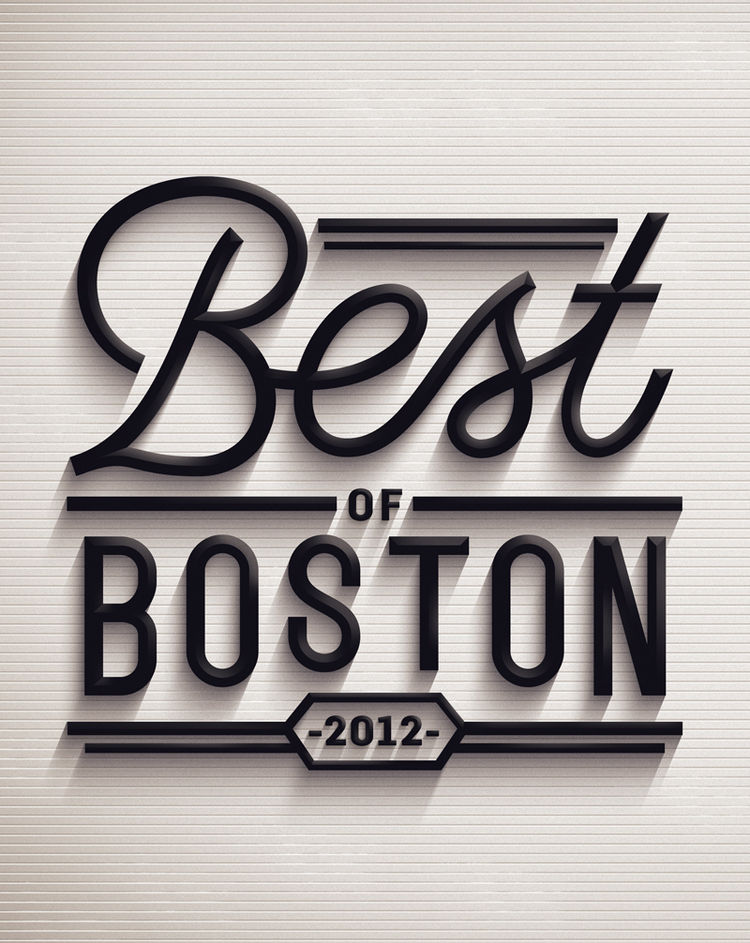 Best of Boston typography by Jordan Metcalf