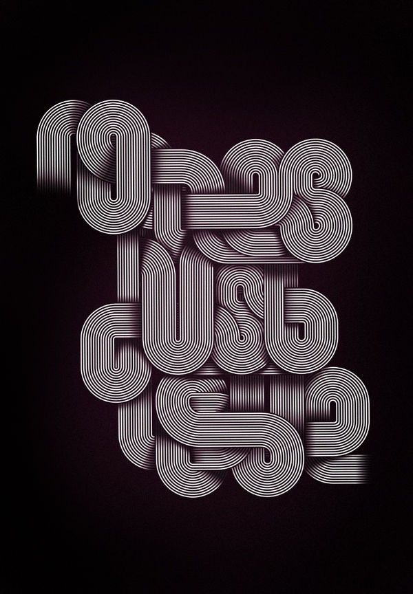 No Lies Just Love typography by Jordan Metcalf