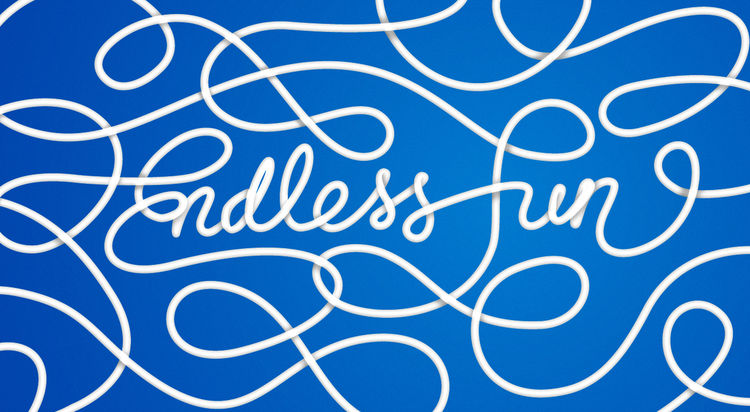 Endless fun typography by Jordan Metcalf