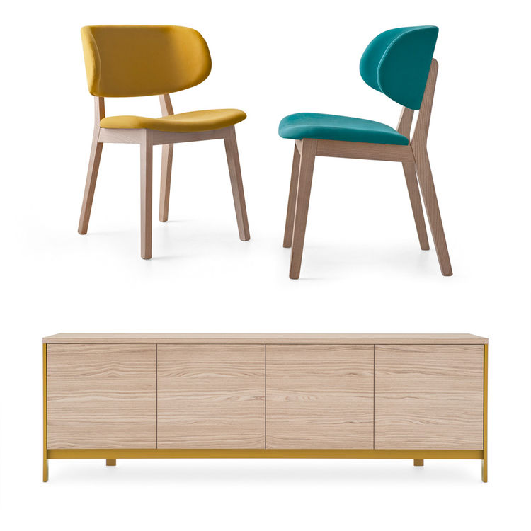 Calligaris exhibition at Salone del Mobile includes new dresser and chairs plus collection by American designer Stephen Burks.