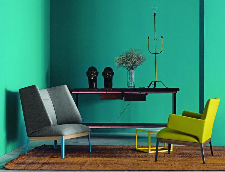 Claesson Kovisto Rune's modern upholstered armchair, new at Salone del Mobile 2013 for Arflex.