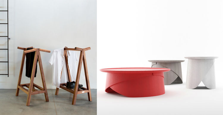 One of the exhibitor at Tm Dixon's MOST in Milan is LUGI, with pieces by Matej Chabera and Lucie Koldova.