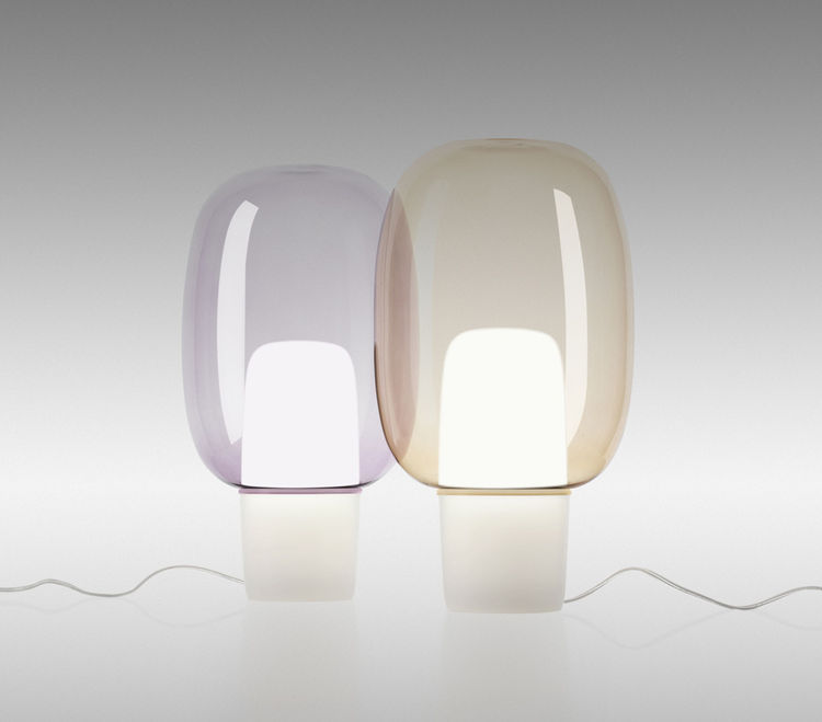 Glass lamp by Norwegian designers Anderssen & Voll for Foscarini, new to Salone del Mobile.
