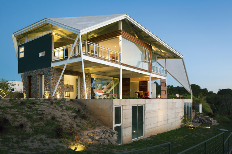 modern house in el salvador with creative roofing