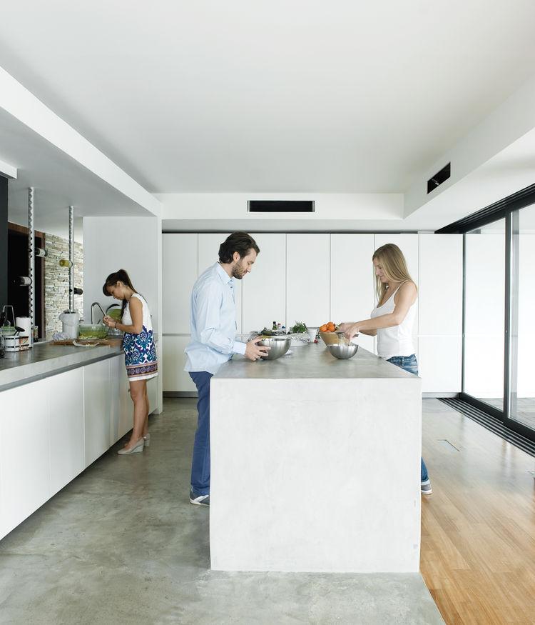 plane house greece kitchen