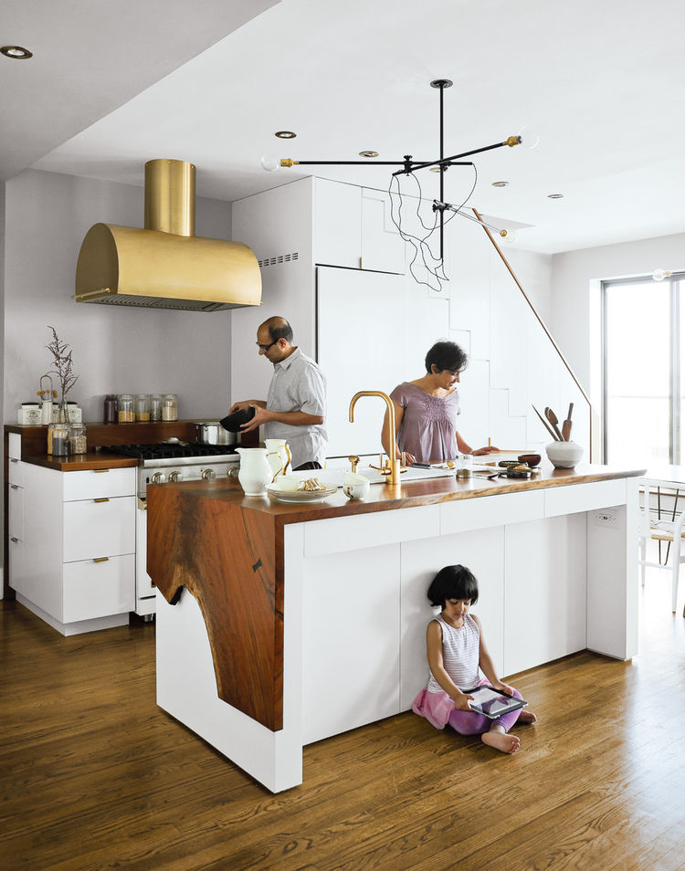 prospect heights residence kitchen family portrait