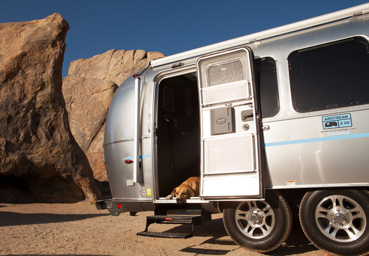Rent an Airstream for a customized travel vacation experience. The interiors of the Airstreams were designed by architect Christopher Deam.