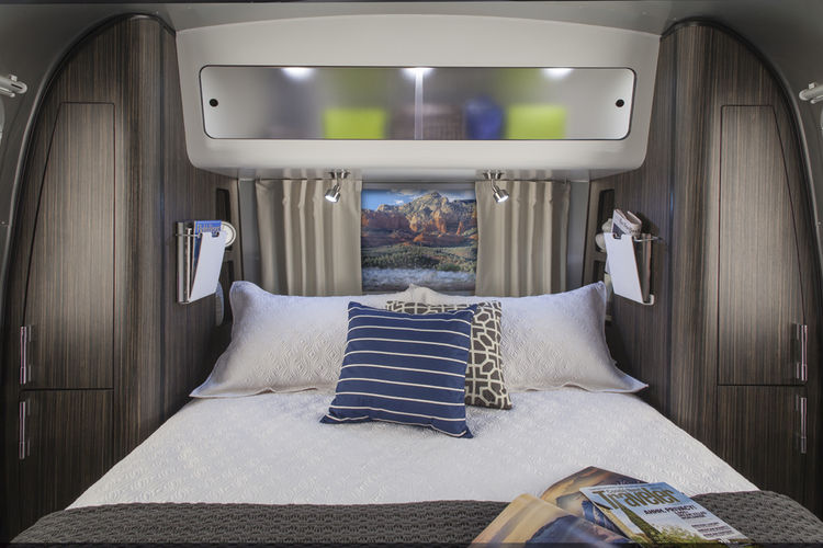 Mobile vacation rental from Airstream 2 Go includes a 23 or 28-foot Airstream designed by Christopher C. Deam that hooks up to a GMC Yukon Denali.
