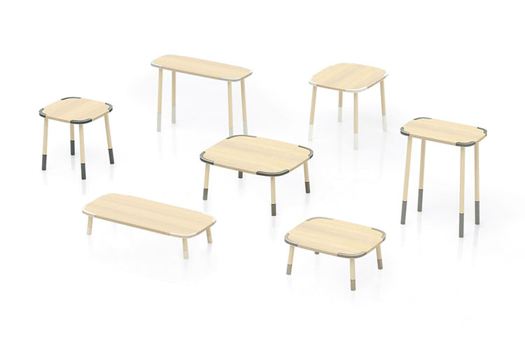 Stone Edge tables by Nendo for Caesarstone