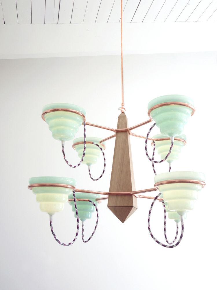 South Side of the Sky handblown chandelier by John Hogan