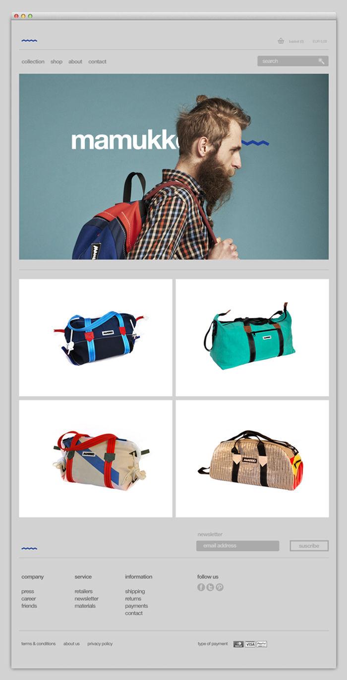 Mamukko's website design by TATABI Studio