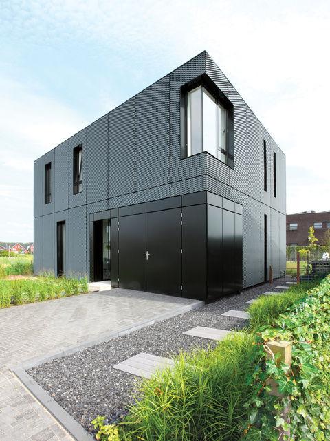 facade focus metal villa exterior