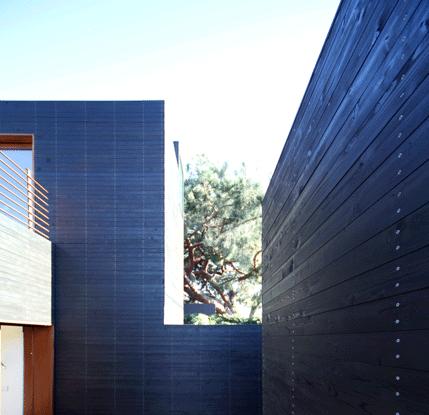 Black cedar clad Dwell Home Venice exterior