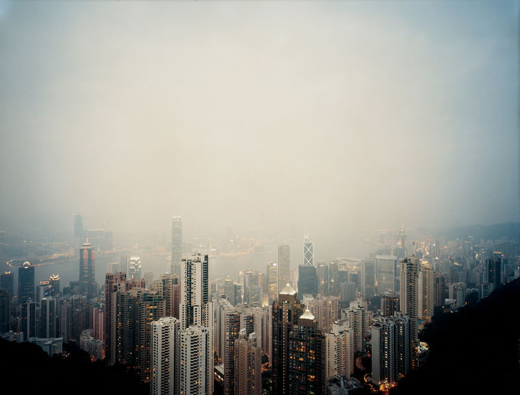 hong kong china victoria peak view downtown