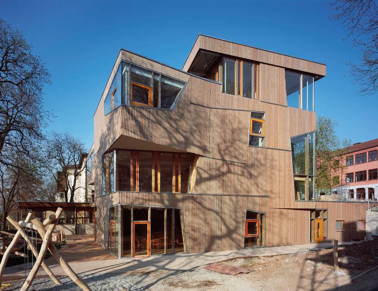 contemporary green building Waldorf School
