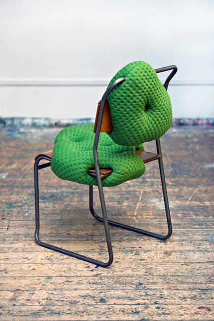 charlotte kingsnorth green chair back