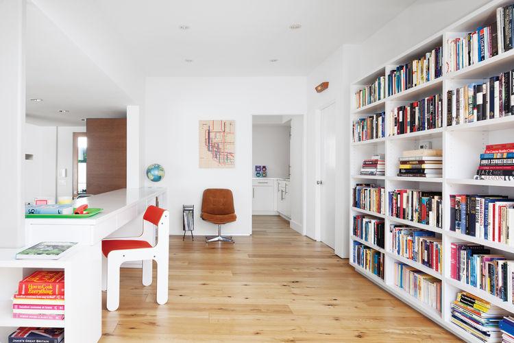 Los Feliz home library.
