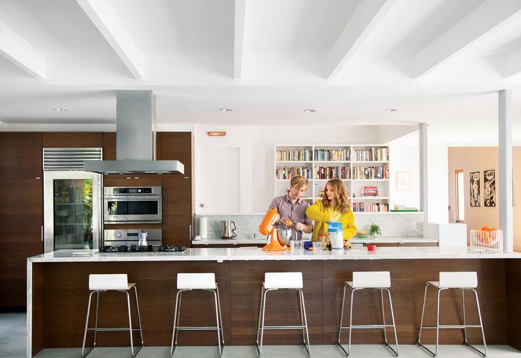 Modern renovated kitchen space.