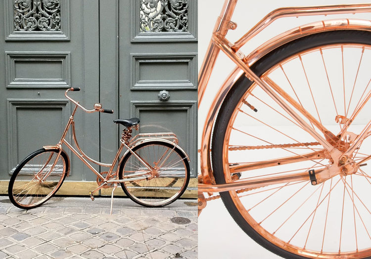 Copper bicycle by Van Heesch at Anthropologie