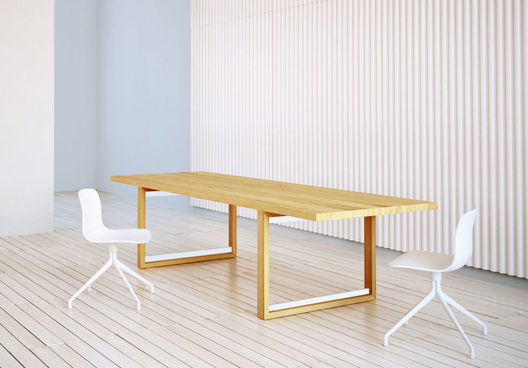Bridge table and Hexa table, which will be shown at NeoCon 2013, by Studio Brovhn in Vancouver