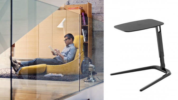 For a flexible, moveable office environment, consider Coalesse's Hosu seating and Freestand laptop desk, both shown at NeoCon 2013