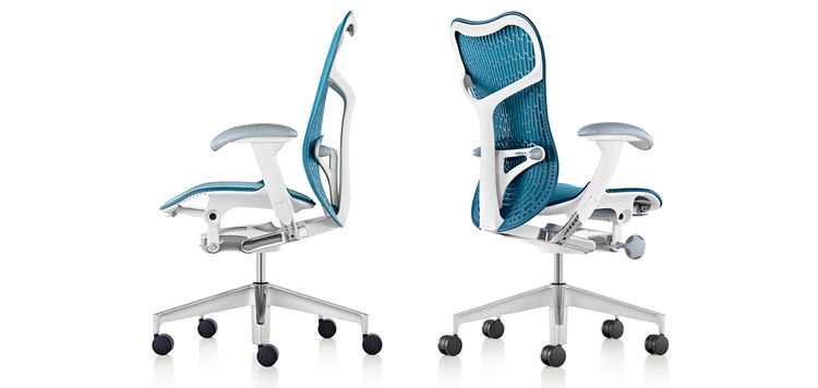 Leaner, lighter, and more responsive update to the Mirra task chair, designed by Studio 7.5 for Herman Miller