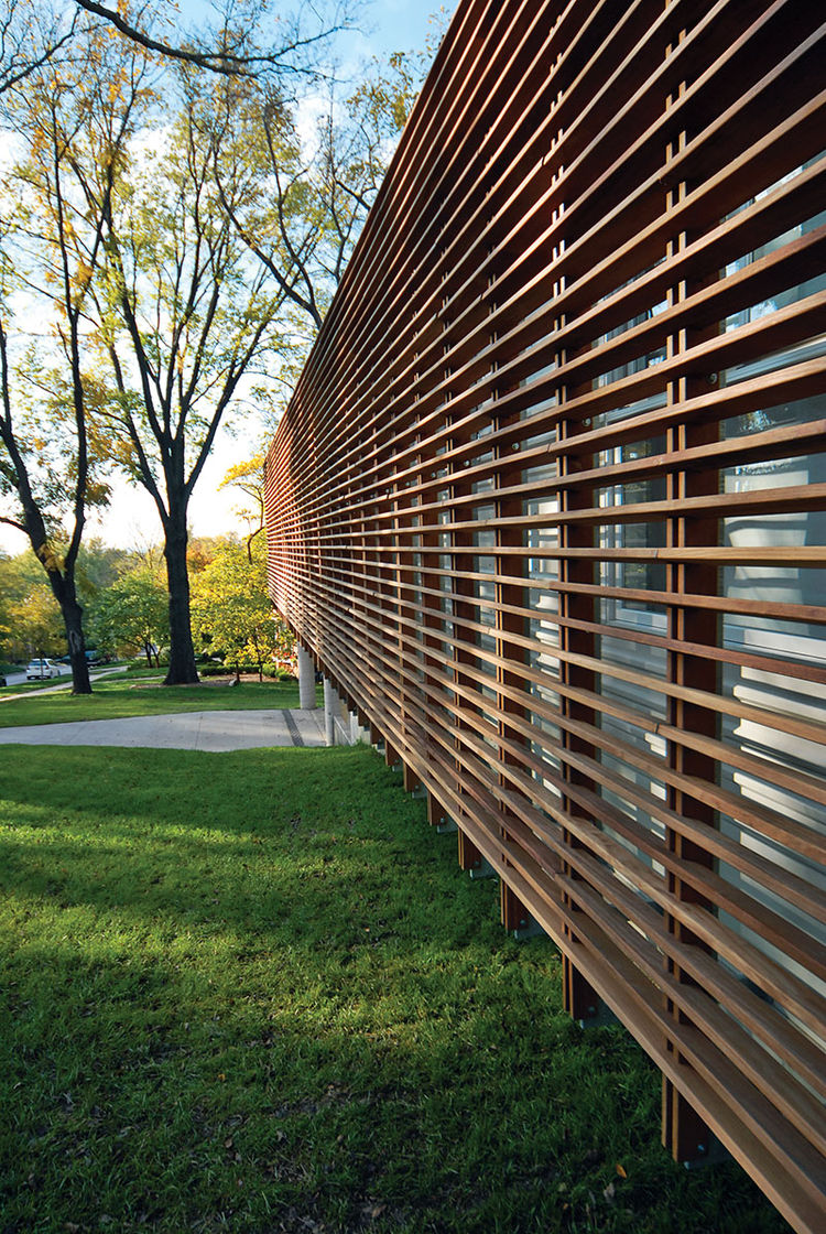 lawrence, kansas, midwest, dan rockhill, modern, house, wood, slats, screen